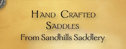 Hand Crafted Saddles from Sandhills Saddlery